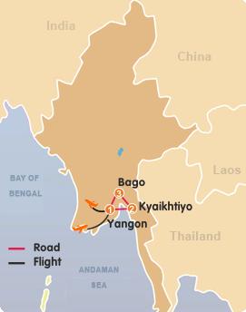 Yangon-Kyaikhtiy-Bago