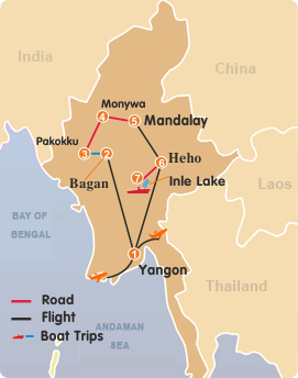Exotic Myanmar Highlights Tour 13 Days