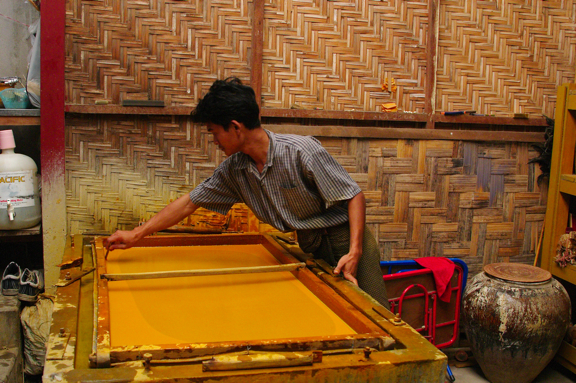 Gold Leaf Making Industry-Mandalay Myanmar