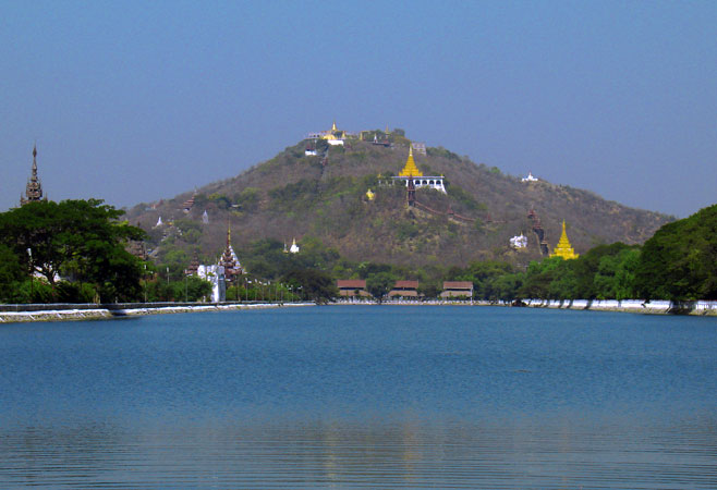 Mandalay Hill from the east moat