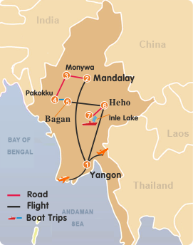 Myanmar Panorama Tour–12 Days
