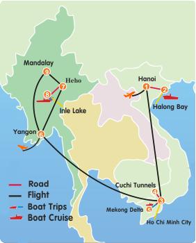 The Best Of Myanmar Vietnam Tour 14 Days