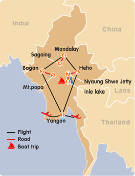 The Best of Myanmar Tour - 10 Days 9 Nights Yangon Mandalay Route Map on bandar seri begawan map, mekong river map, bangkok map, yangtze river map, burma map, taipei map, hong kong map, taiohae map, bumthang map, hanoi map, myanmar map, kuala lumpur map, islamabad map, naypyidaw map, murang'a map, vientiane map, manila map, rangoon map, jakarta map, great wall of china map,