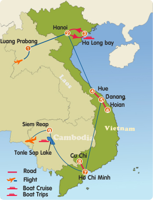 Laos Vietnam Cambodia Tour 16 Days