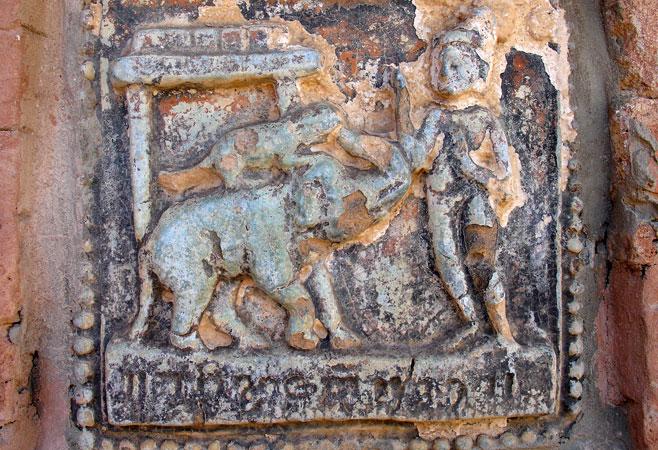 Glazed plaque depicting 550 Jataka stories