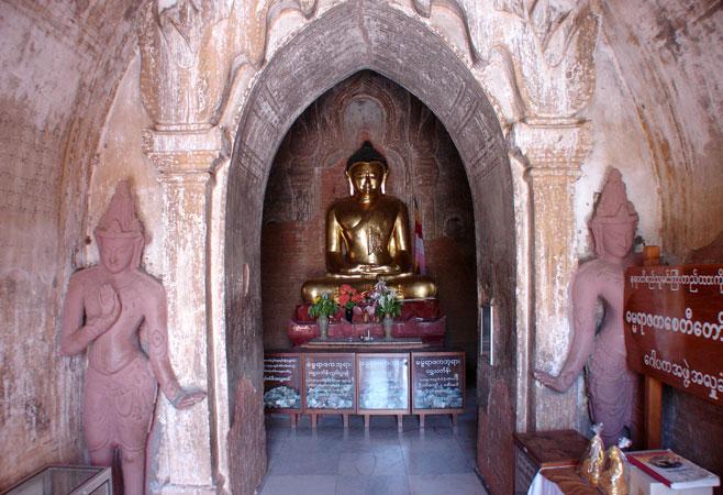Buddha Image inside the pagoda