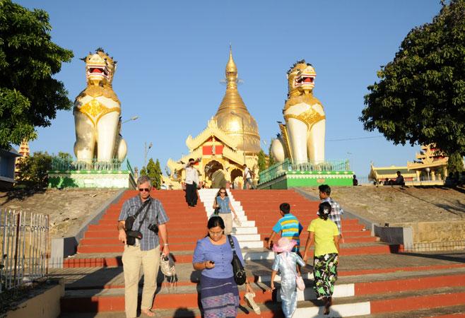 Stairways to Mahawizaya Pagoda