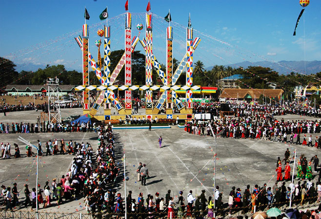 The Kachin Manaw festival