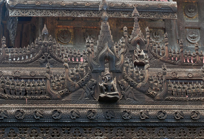 The pride of Myanmar woodcarvings