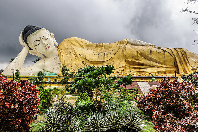 Shwethalyaung Buddha - Bago, Myanmar