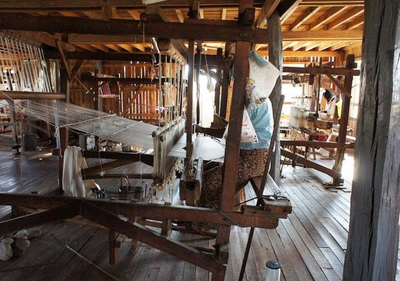 Silk Weaving Workshop In Amarapura Myanmar