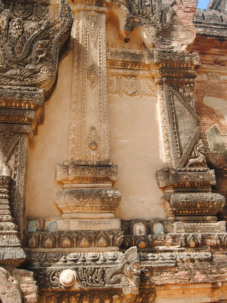 Some of the beautiful stucco - Tayok Pye Temple - Bagan Myanmar