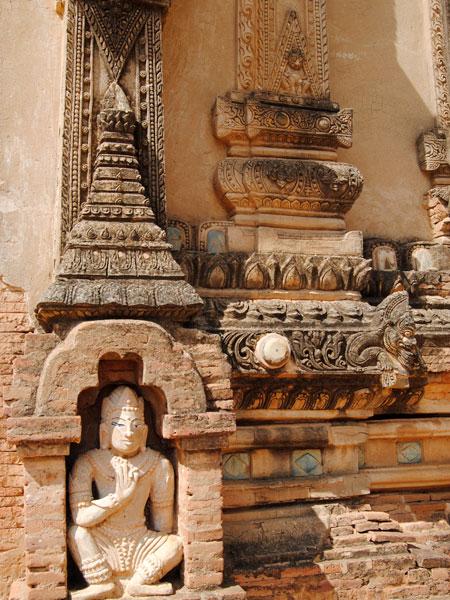 Guardian nat at the door - Tayok Pye Temple - Bagan Myanmar