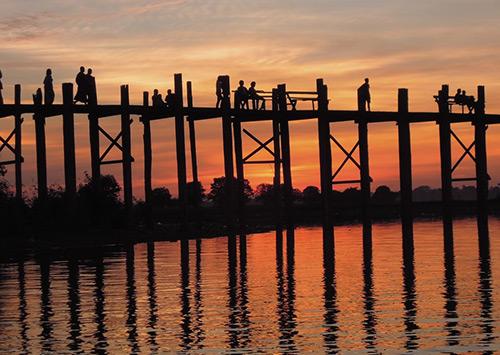 Teak Wood Bridge Myanmar